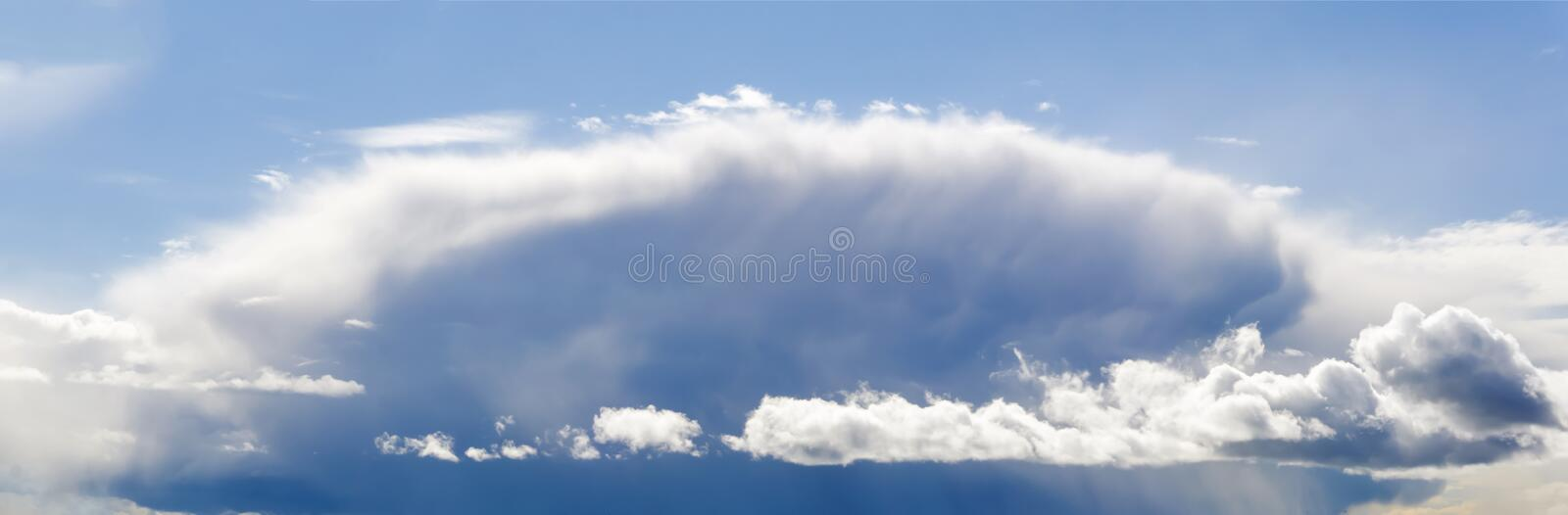 Big cloud before a thunderstorm royalty free stock image