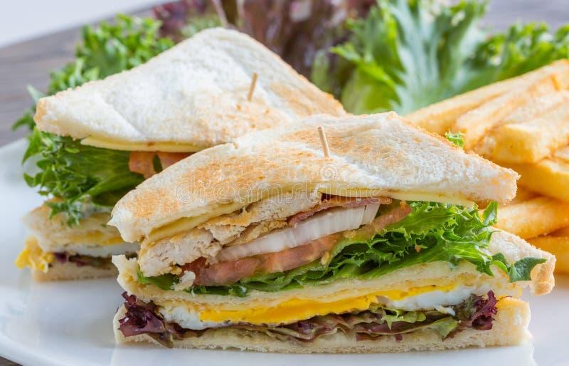 Club sandwich royalty free stock photography
