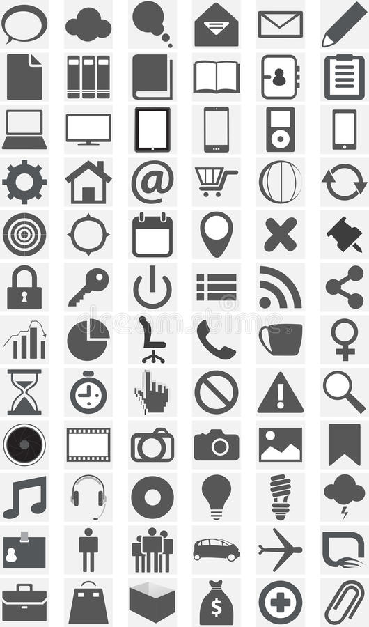 Download Big Collection Of Different Icons. Stock Image - Image: 34637881