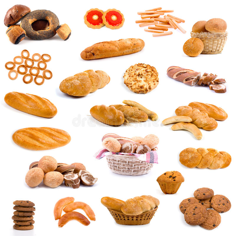 Free Big Collection Of Bread Royalty Free Stock Photography - 16221637