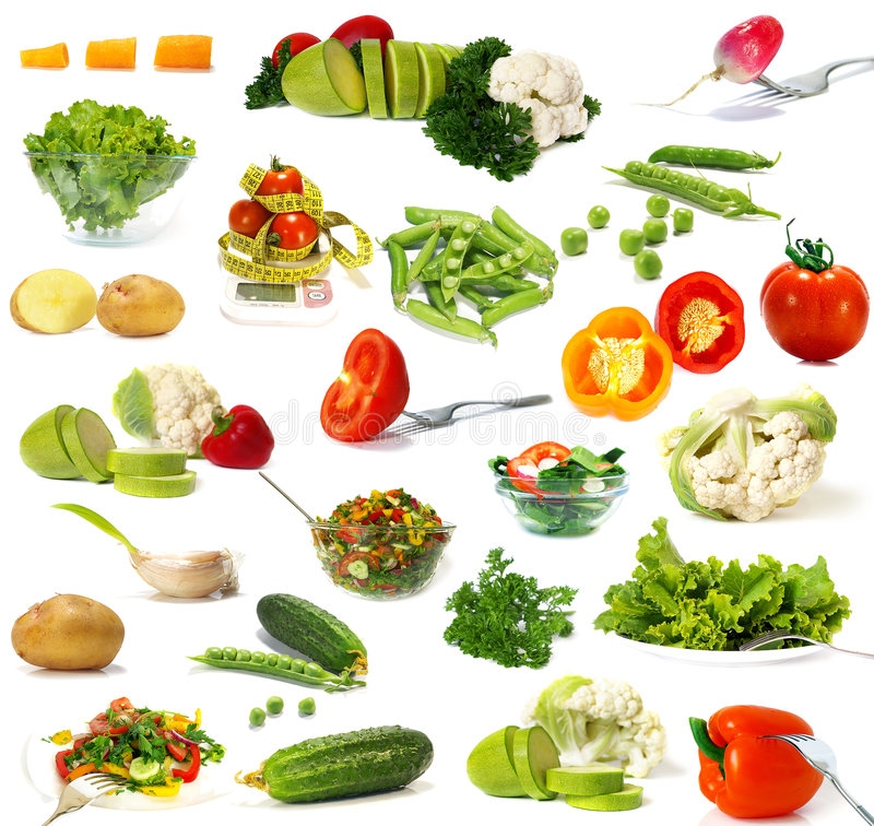 Free Big Collection Of Vegetables Royalty Free Stock Photography - 7105097