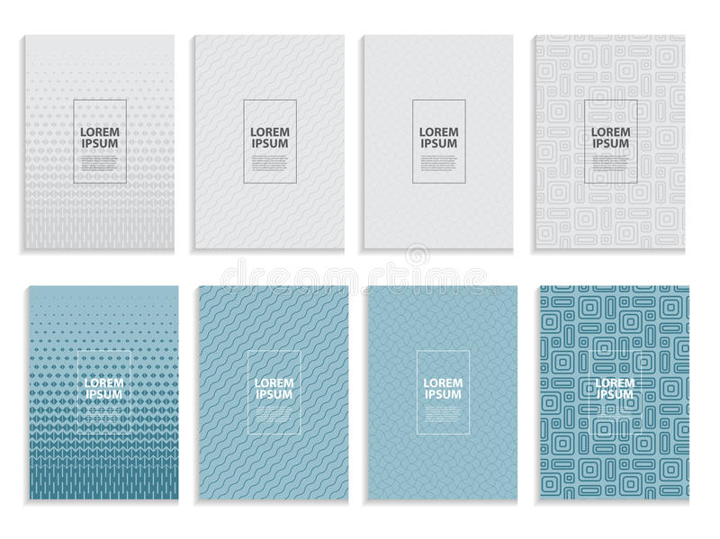 Big Collection Set of Simple Minimal Covers Business Template Design. Future Geometric Pattern. Vector Illustration. EPS10n stock illustration