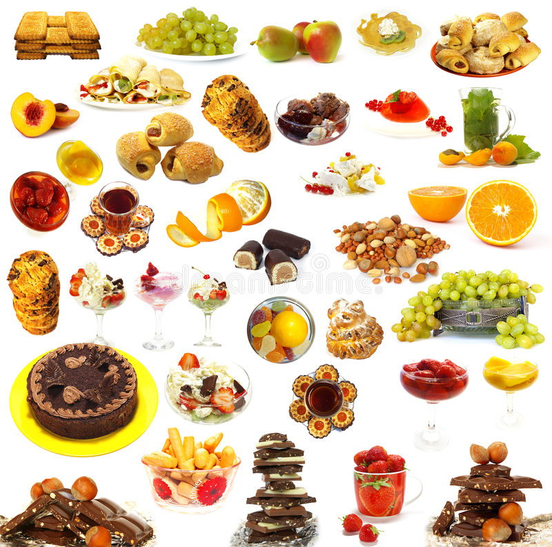 Big collection of sweets royalty free stock photo