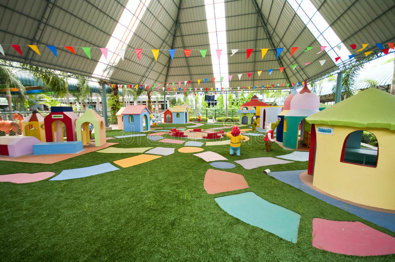 Download Big Colorful Children Playground Stock Image - Image of leisure, architecture: 33980701