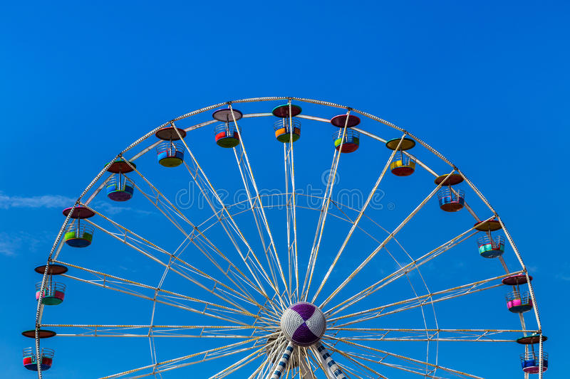 Big colourful ferris wheel in amusement park royalty free stock photos