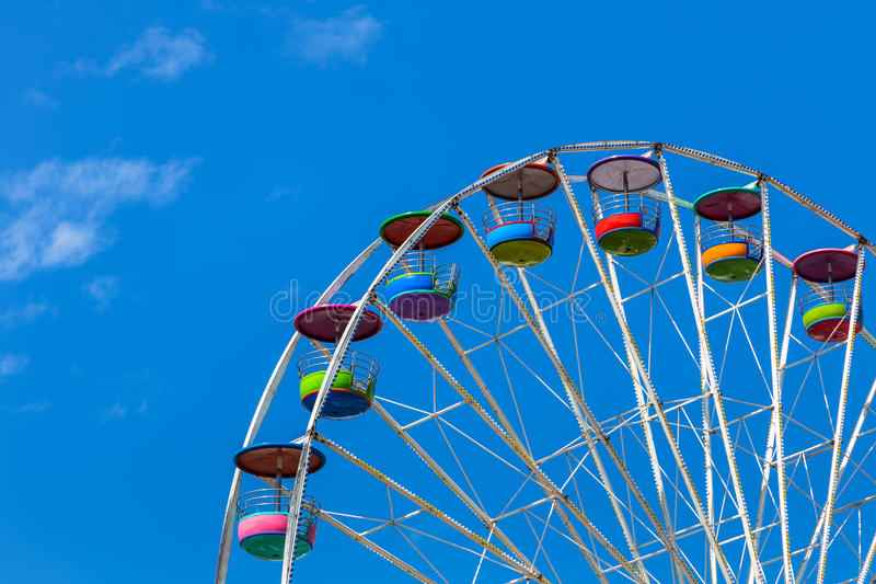 Big colourful ferris wheel stock photography