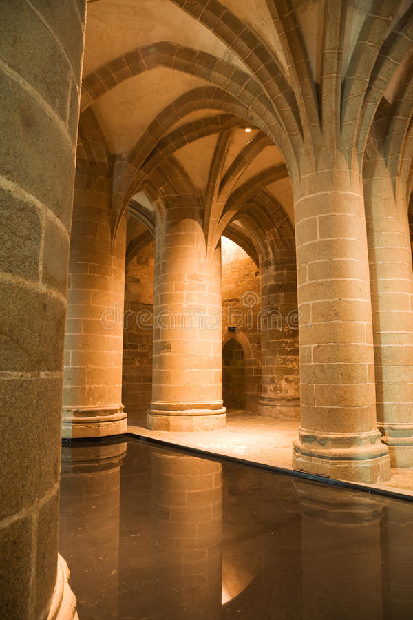 Download Big Columns From Mont St. Michel Stock Images - Image: 10869134