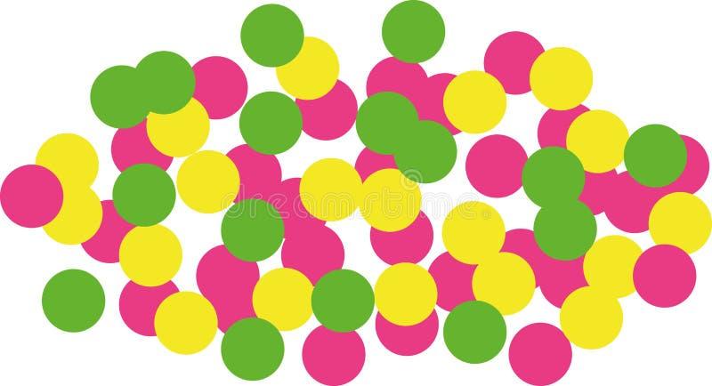 Big confetti crowd royalty free illustration