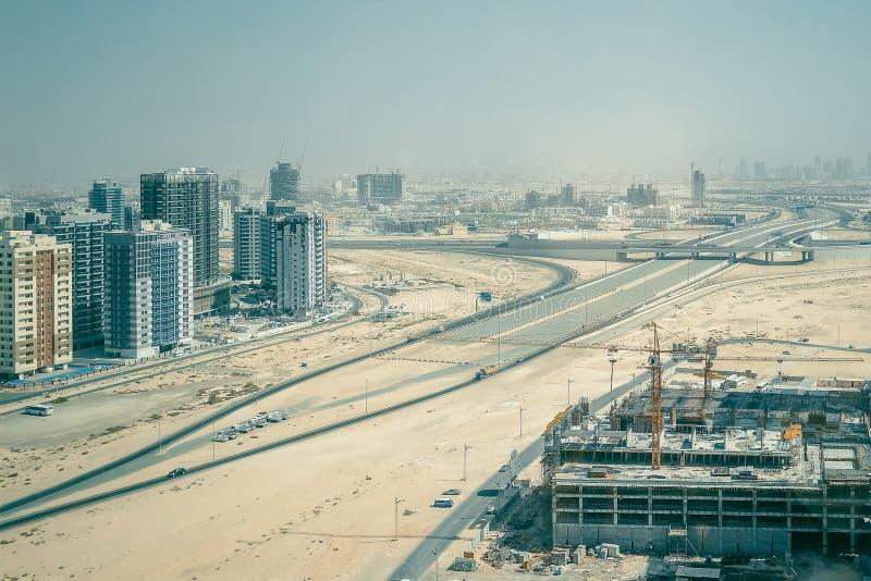 Big construction site in Dubai. stock images