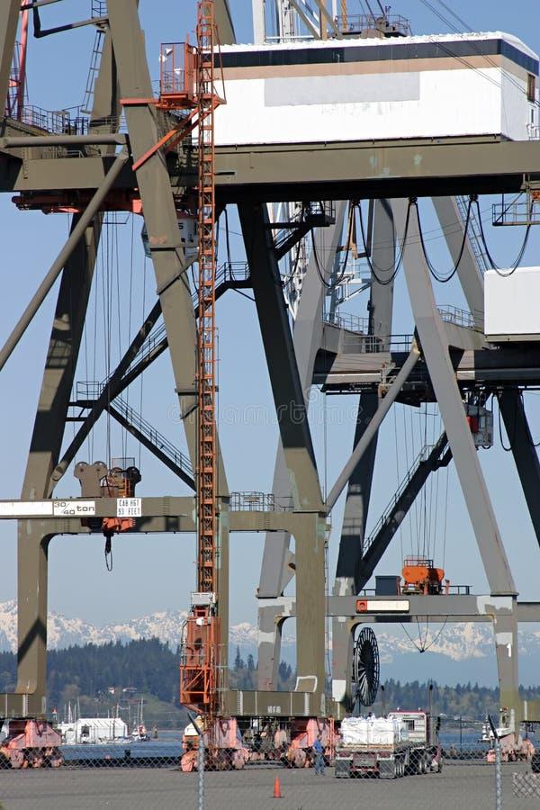 Big cranes. stock photos