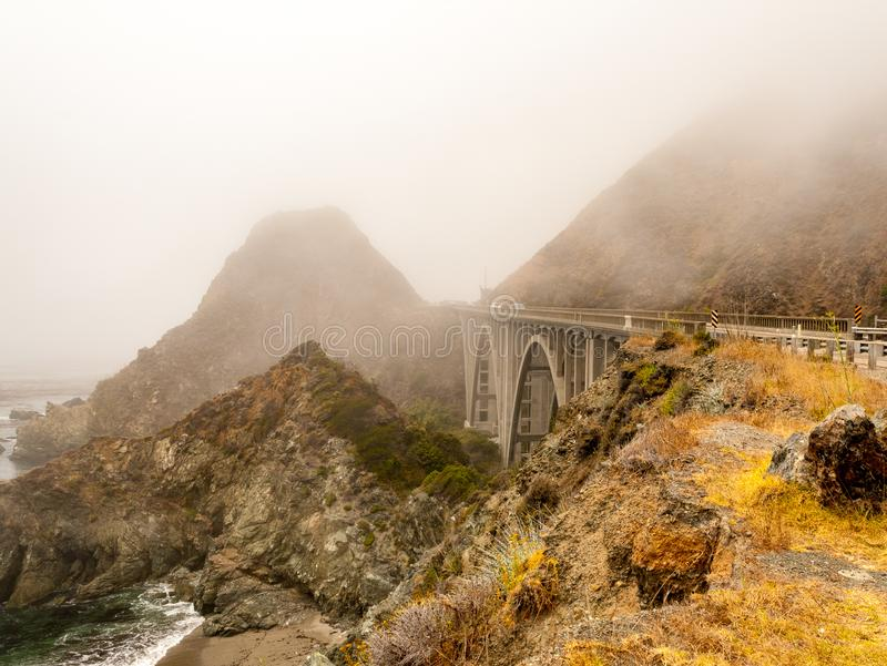 Big Creek Bridge on Pacific Coast Highway 1 royalty free stock images