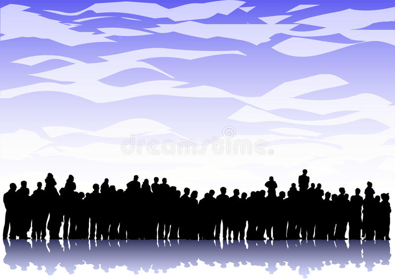 Download Big crowd stock vector. Image of group, performance, adult - 12279072