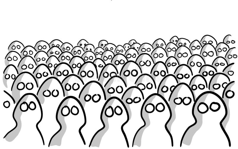 Big crowd of anonymous people stock images