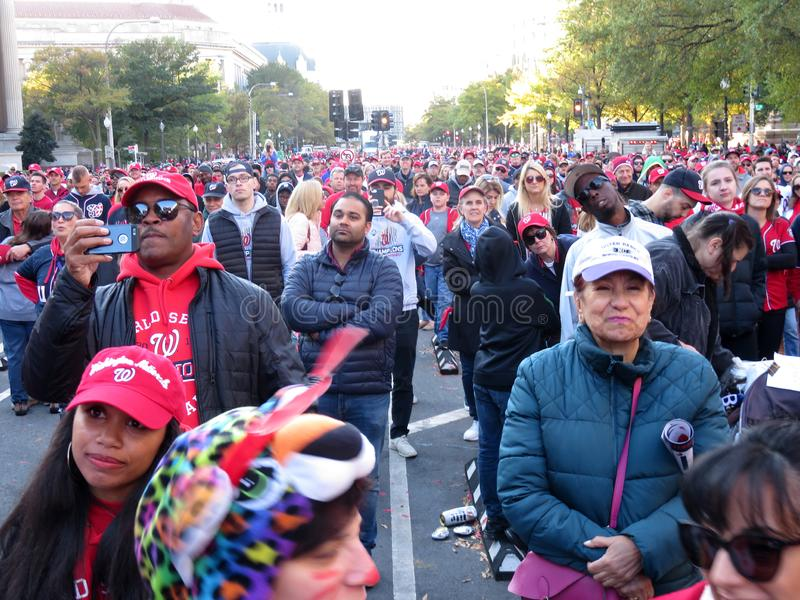 Big Crowd of Men and Women in Washington DC stock images