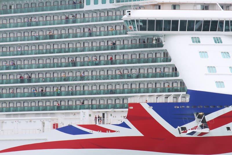 Big cruise Britannia of P&O Company royalty free stock photos