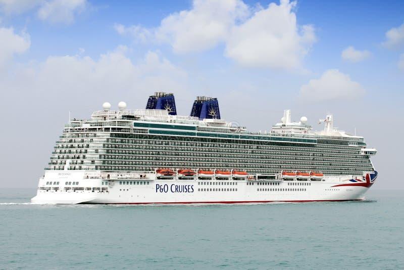 Big cruise Britannia of P&O Company royalty free stock photo