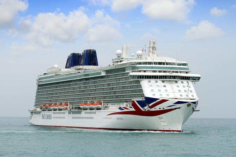 Big cruise Britannia of P&O Company stock photography