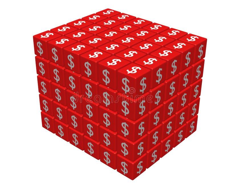 Big cube vector illustration