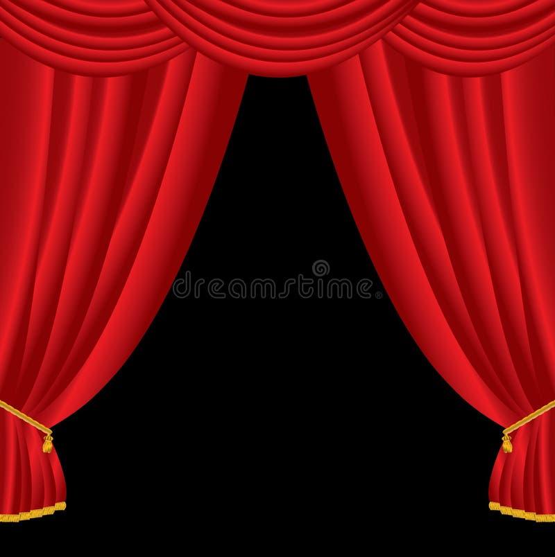 Download Big curtain stock illustration. Image of open, orange - 23024663