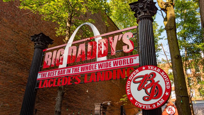 Big Daddys Restaurant at Lacledes Landing in St Louis - SAINT LOUIS. USA - JUNE 19, 2019. Big Daddys Restaurant at Lacledes Landing in St Louis - SAINT LOUIS royalty free stock images