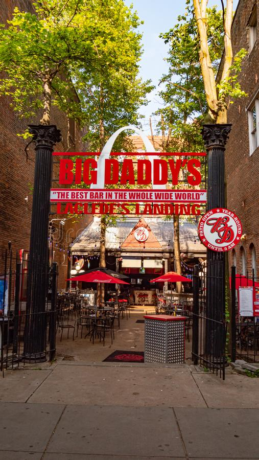 Big Daddys Restaurant at Lacledes Landing in St Louis - SAINT LOUIS. USA - JUNE 19, 2019. Big Daddys Restaurant at Lacledes Landing in St Louis - SAINT LOUIS royalty free stock photo