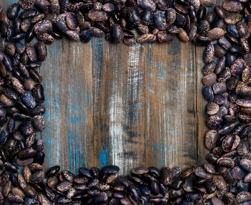 Big dark bean grain, bean pod, a lot of beans texture pattern ba stock images