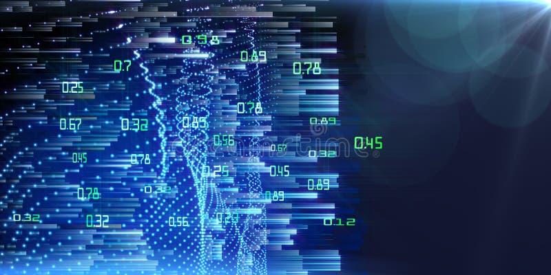 Big data. Abstract analysis infographics background.  Machine learning mining data stock image