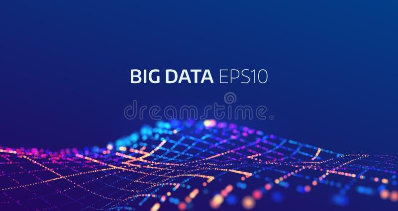 Big data abstract vector background. Bigdata code visualization vector illustration