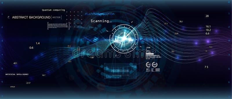 Big data algorithms stock illustration