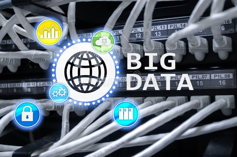 Big data analysing server. Internet and technology.  royalty free illustration
