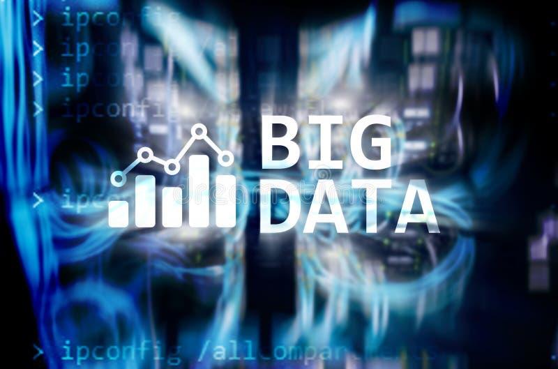 Big data analysing server. Internet and technology. Big data analysing server. Internet and technology vector illustration