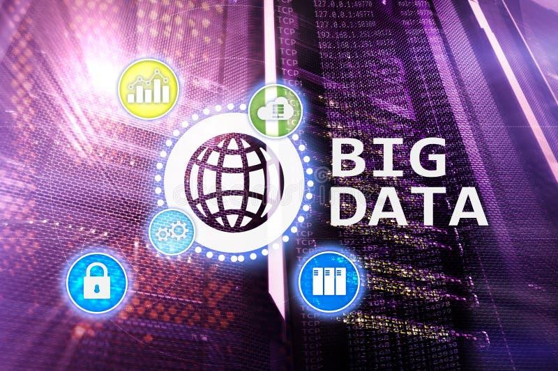 Big data analysing server. and technology.  royalty free illustration