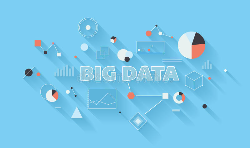 Big data analysis illustration stock illustration