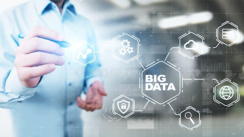 Big Data Analytics-Plattform, Business Intelligence und modernes Technologiekonzept auf Vitalbildschirm stockbild