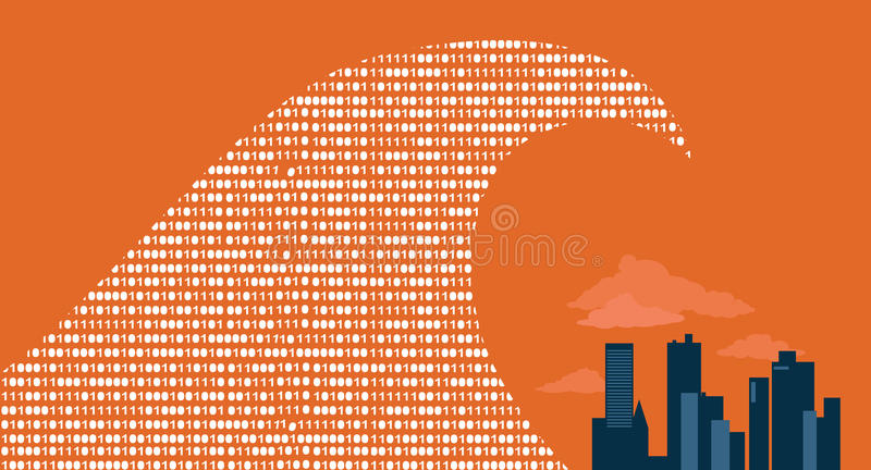 Big data arrived stock illustration