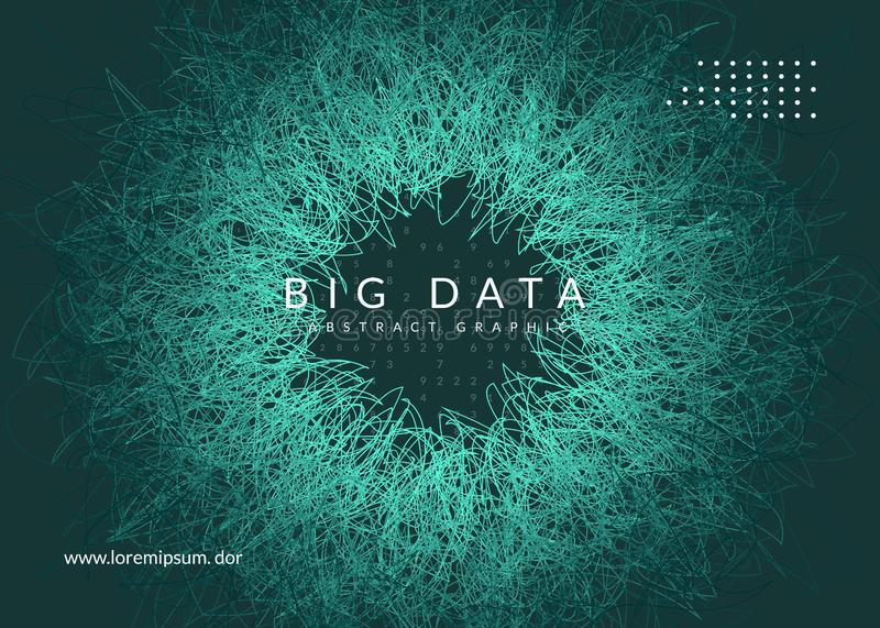 Big data background. Technology for visualization, artificial in royalty free illustration