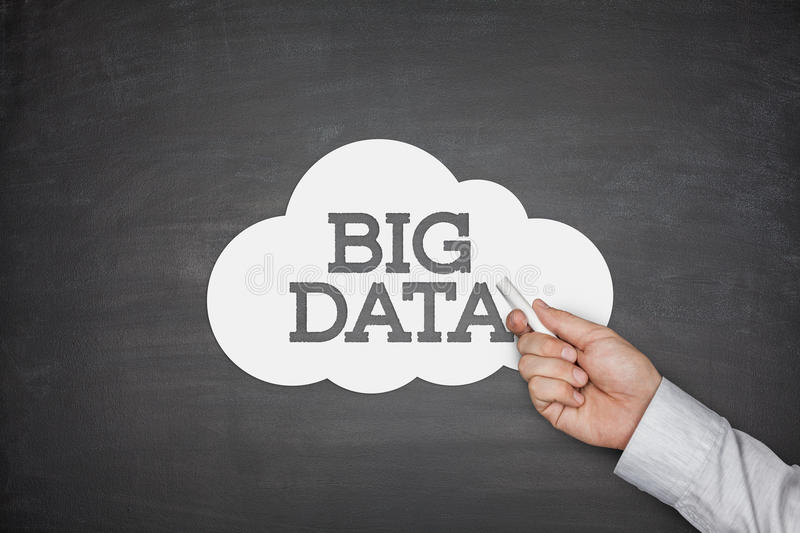 Big data on blackboard royalty free stock images