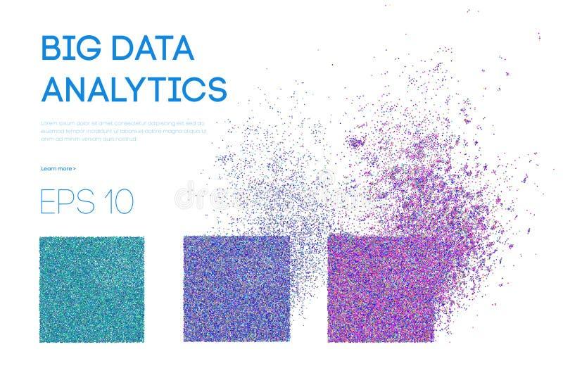 Big Data. Business inteligence technology background. Binary code algorithms deep learning virtual reality analysis vector illustration
