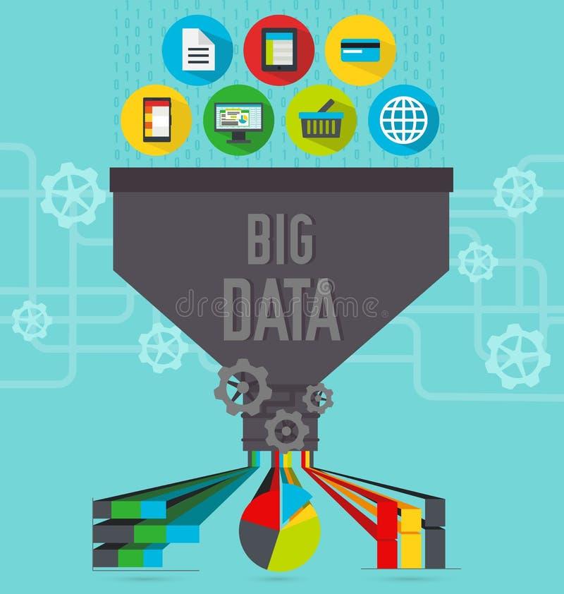Big data chart royalty free illustration