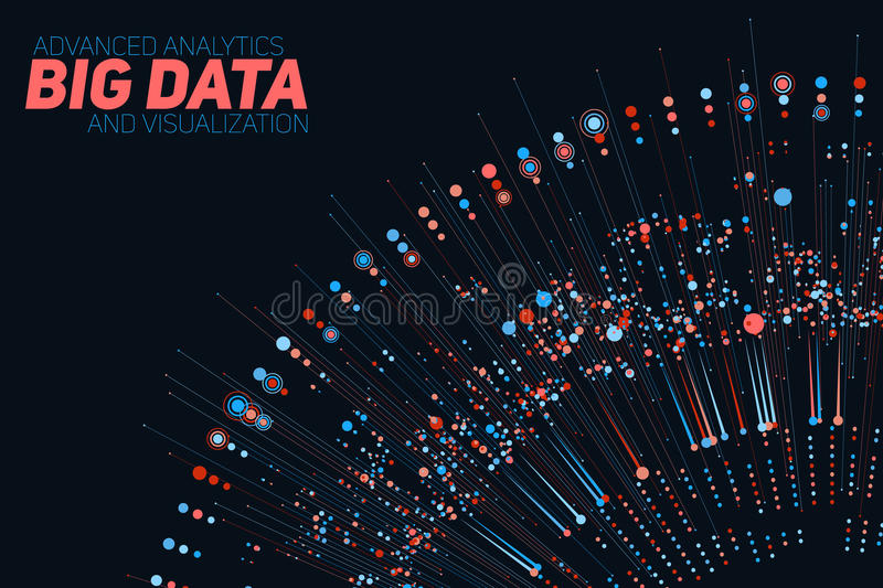 Big data circular colorful visualization. Futuristic infographic. Information aesthetic design. Visual data complexity. Complex data threads graphic royalty free illustration