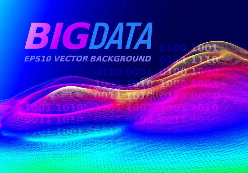 Big data. Colorful vector 3d graph royalty free illustration