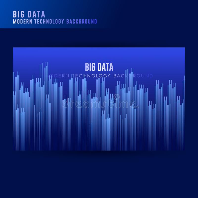 Big Data concept background. Digital technology abstract background. Tech visual for screen background template. Artificial royalty free illustration