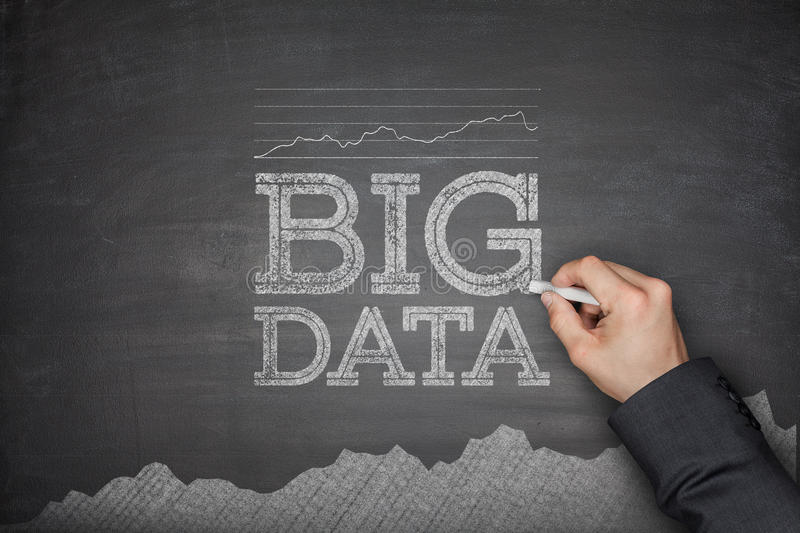 Big data concept on blackboard royalty free stock photo