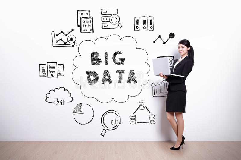 Big Data concept royalty free stock photos