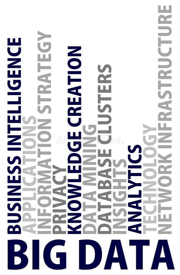 Big data design thinking stock illustration