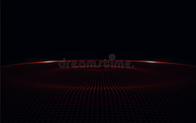 Big Data Digital Lines on Black Background. Cyberspace with digital lines Big Data Digital Lines on Black Background stock image