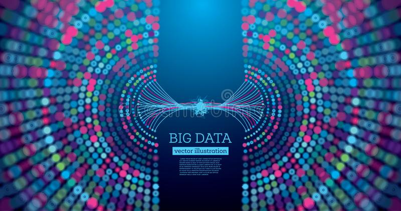 Big Data Futuristic Science Background with Copy Space. stock illustration
