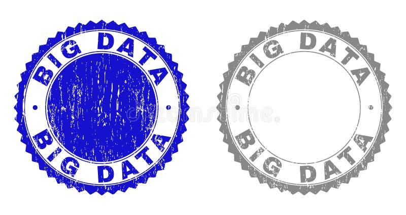 BIG DATA grunge a rayé des joints de timbre illustration libre de droits