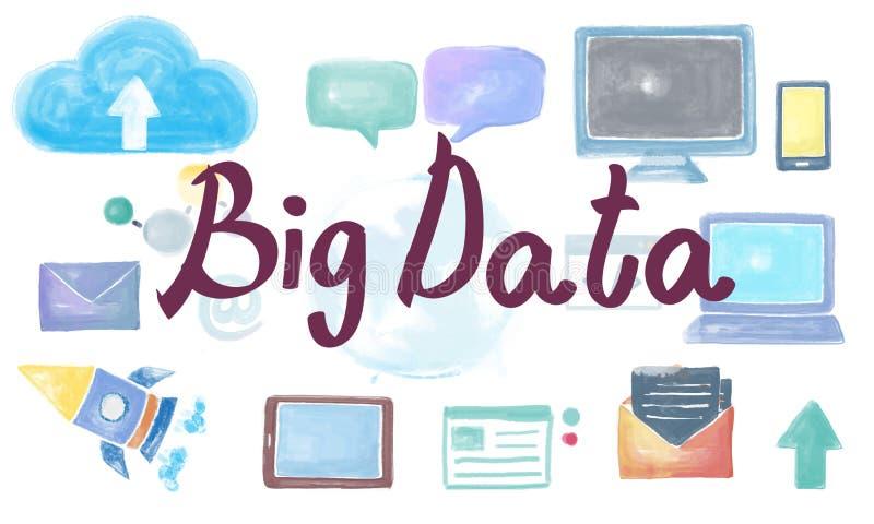 Big Data Information Database Storage System Concept. Big Data Information Database Storage System stock photos