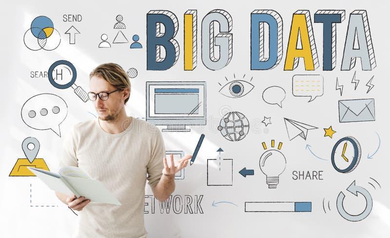 Big Data Information Storage Network System Concept stock images
